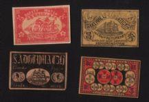 Collectible match box labels CHINA or JAPAN patriotic #653